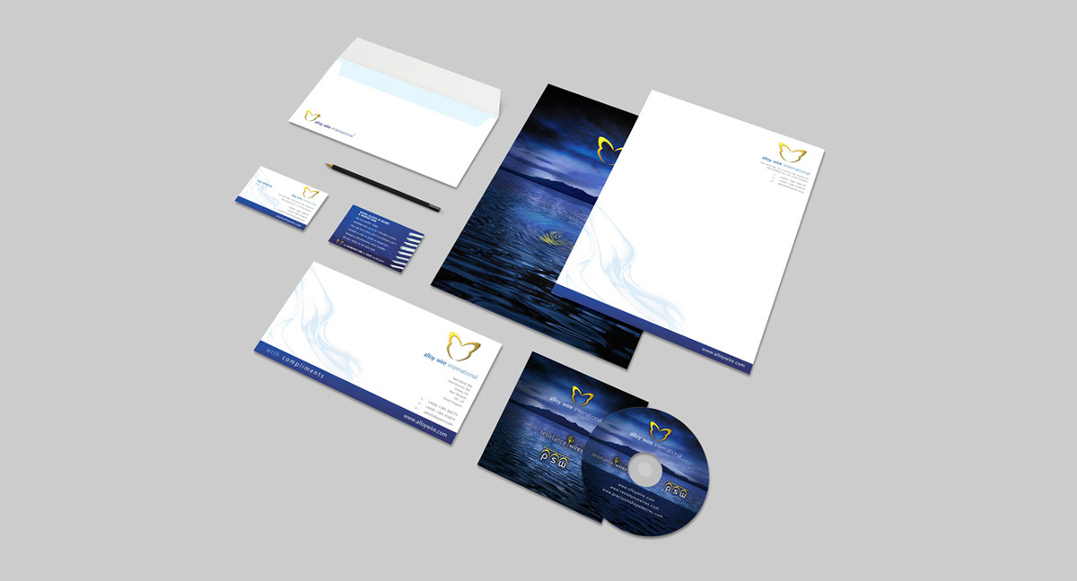 alloy wire corporate stationery
