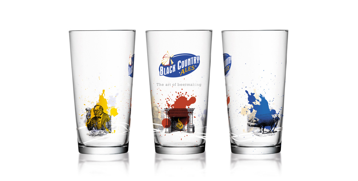 black country ales pint glass