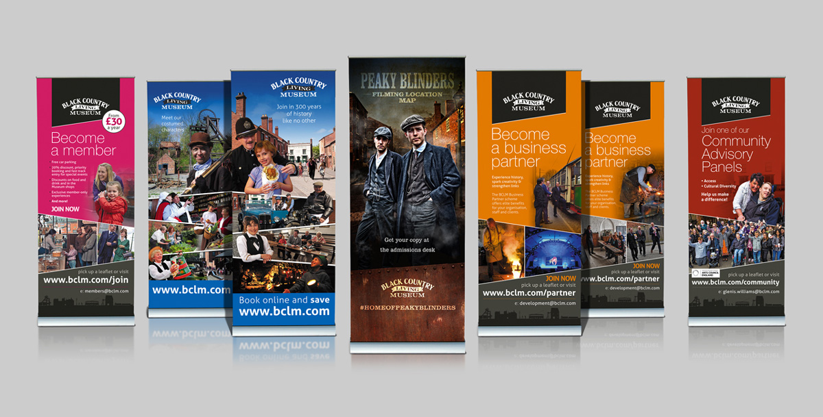 black country living museum pull up banners