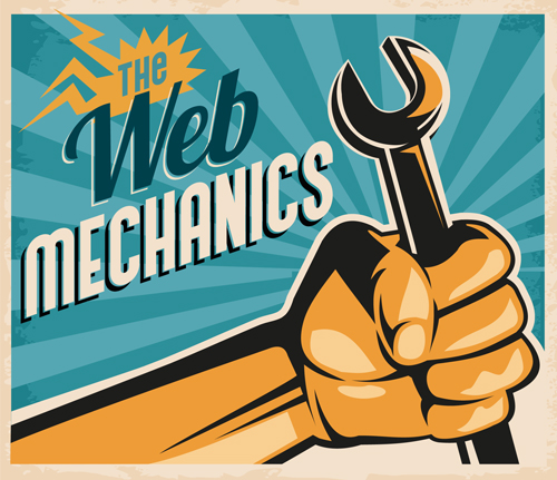 web mechanics graphic